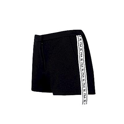 FILA #日潮攻略首部曲 女針織短褲-黑色 5SHU-1425-BK