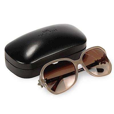 【時時樂限定】COACH 雙C LOGO玳瑁/琥珀太陽眼鏡(淺棕金)