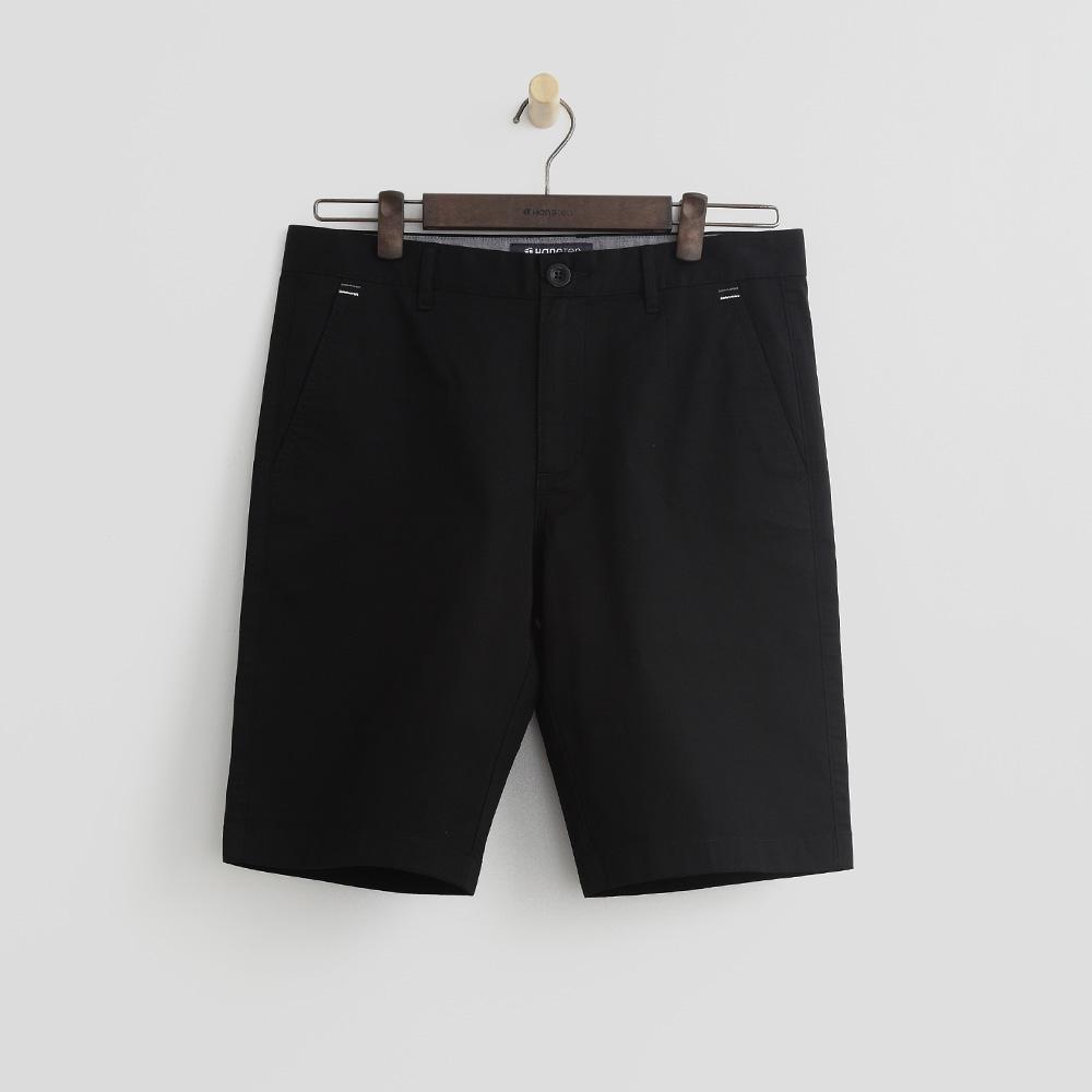 Hang Ten - 男裝 - 純色百慕達休閒短褲-黑色
