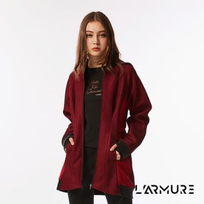 L ARMURE 女裝 立體紋理 飛行 夾克 洋裝 紋理紅