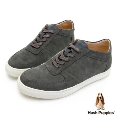 Hush Puppies Bull Terrier舒適皮革休閒鞋-深灰