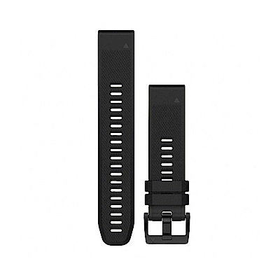 GARMIN QUICKFIT 22mm 墨黑色矽膠錶帶