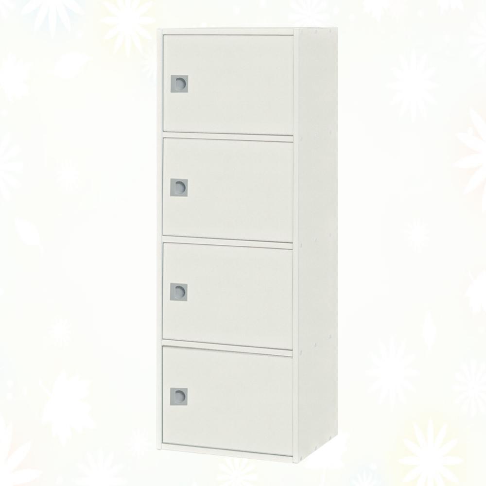 文創集 麥克 環保1.4尺南亞塑鋼開放四門置物櫃/收納櫃-43.4x31x119.8cm免組