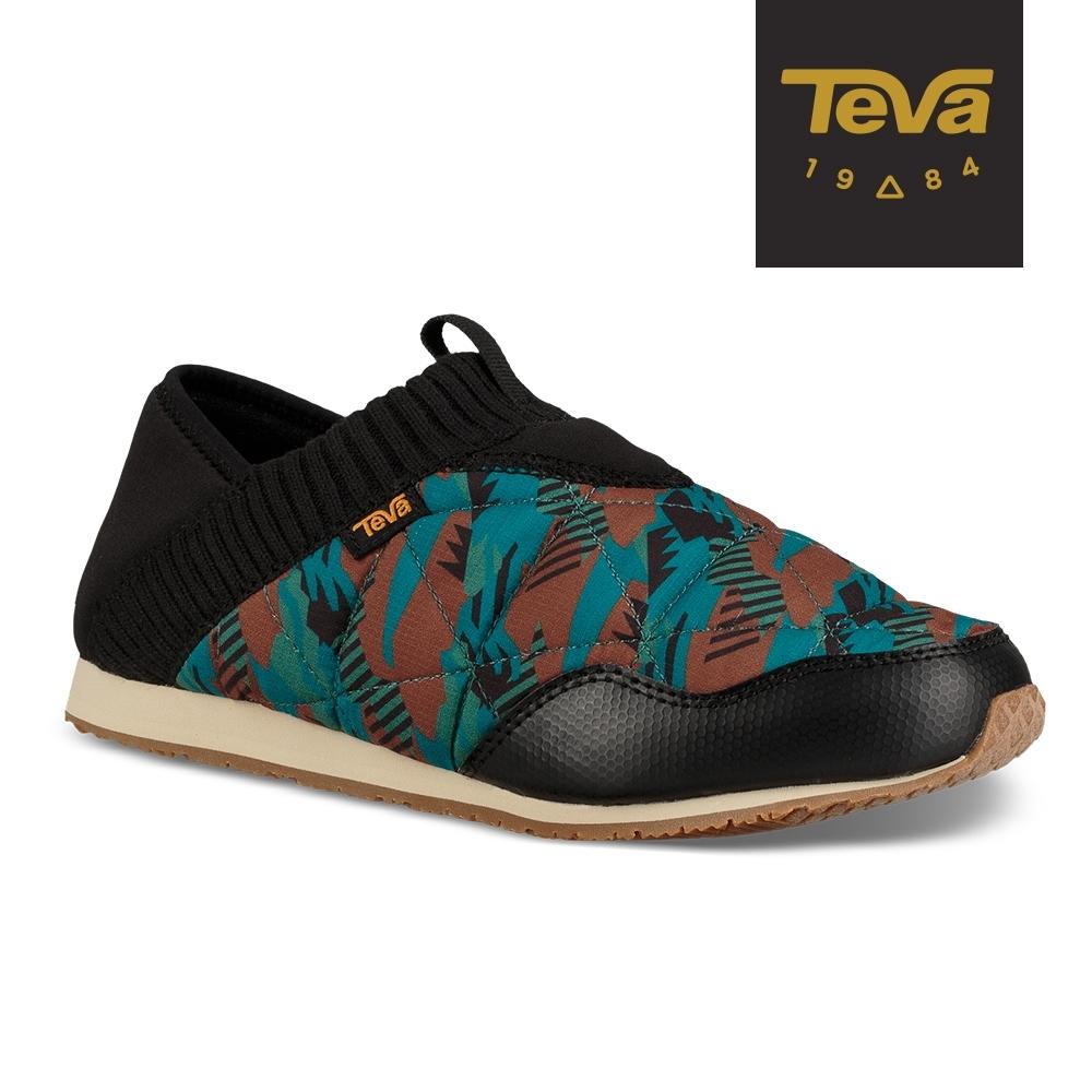 【TEVA】原廠貨 女 Ember Moc Canyon 防潑水菠蘿麵包鞋/休閒鞋/懶人鞋(GC100湖水藍-TV1106113GCCM)