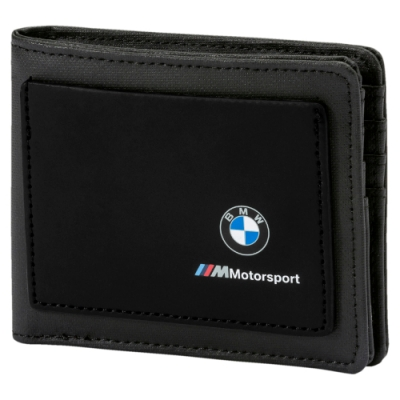PUMA-男女BMW M MSP皮夾-黑色