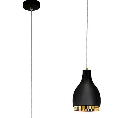 EGLO歐風燈飾 文青黑造型圓罩式吊燈(不含燈泡)