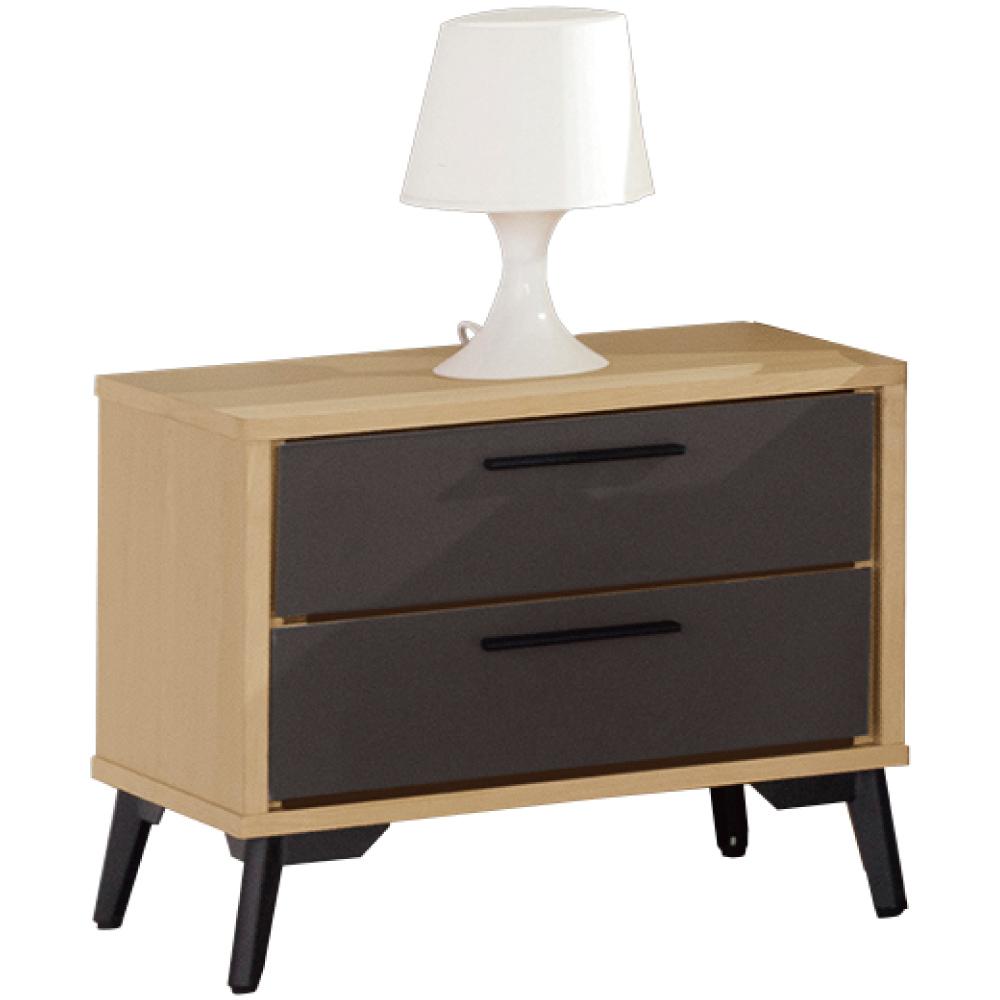 綠活居 米布亞時尚1.7尺雙色床頭櫃/收納櫃-52x40x45cm免組
