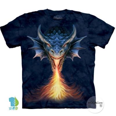 摩達客-美國The Mountain 噴火龍 純棉環保藝術中性短袖T恤