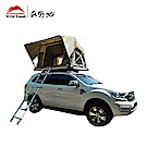 秋野地 諾曼地軟頂液壓車頂帳篷 卡其色 半自動搭建 一拉收帳 汽車露營