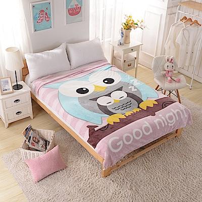 Grace Life 可愛造型多用途定位冷氣毯一入-貓頭鷹