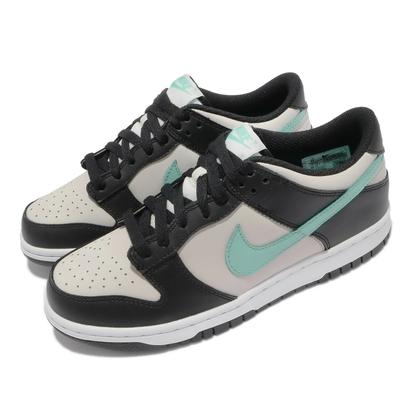 Nike 休閒鞋 Dunk Low GS 運動 女鞋 經典款 皮革 球鞋 穿搭 大童 黑 綠 CW1590-003