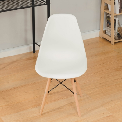 樂嫚妮 北歐復刻餐椅/椅子/休閒椅/辦公椅-白