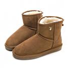 PLAYBOY 初雪夢境 簡約百搭短筒雪靴-棕
