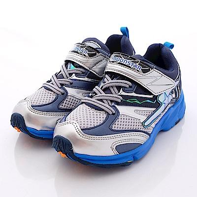 日本月星頂級競速童鞋 魔動爪彈力款 6445藍(中大童段)