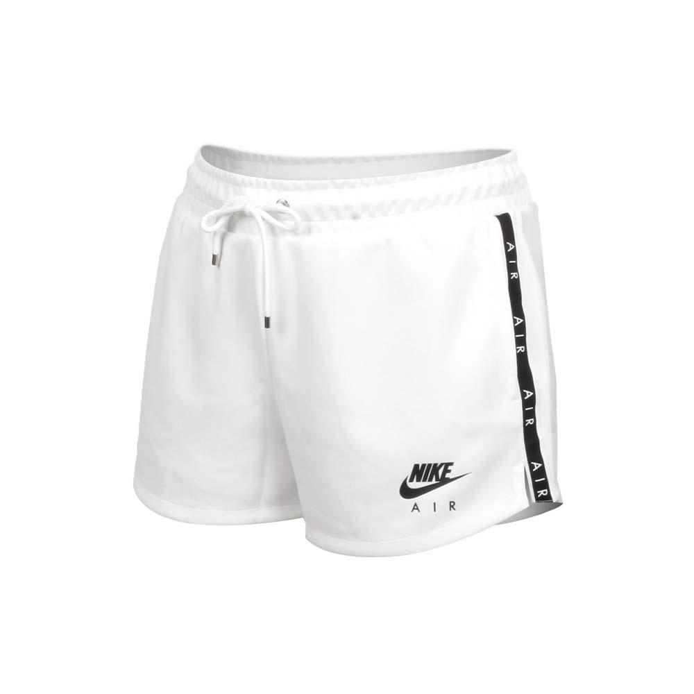 NIKE 女運動短褲-針織 慢跑 路跑 三分褲 真理短褲 休閒 訓練 串標 CJ3135-100 白黑