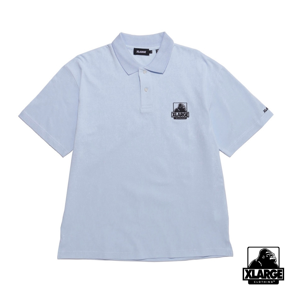 XLARGE EMBROIDERY OG POLO SHIRT 經典LOGO短袖POLO衫-藍