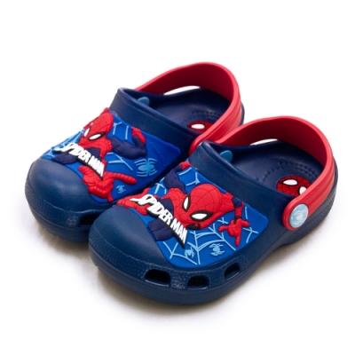 MARVEL 漫威 15cm-19cm 蜘蛛人 輕量兒童園丁涼、拖鞋 台灣製造 藍紅 99076