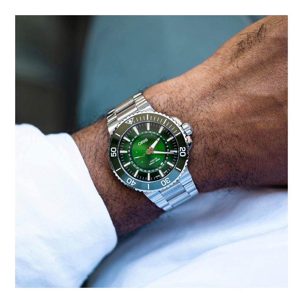 Oris 豪利時 時間之海漢江限量腕錶-綠 0174377344187-Set
