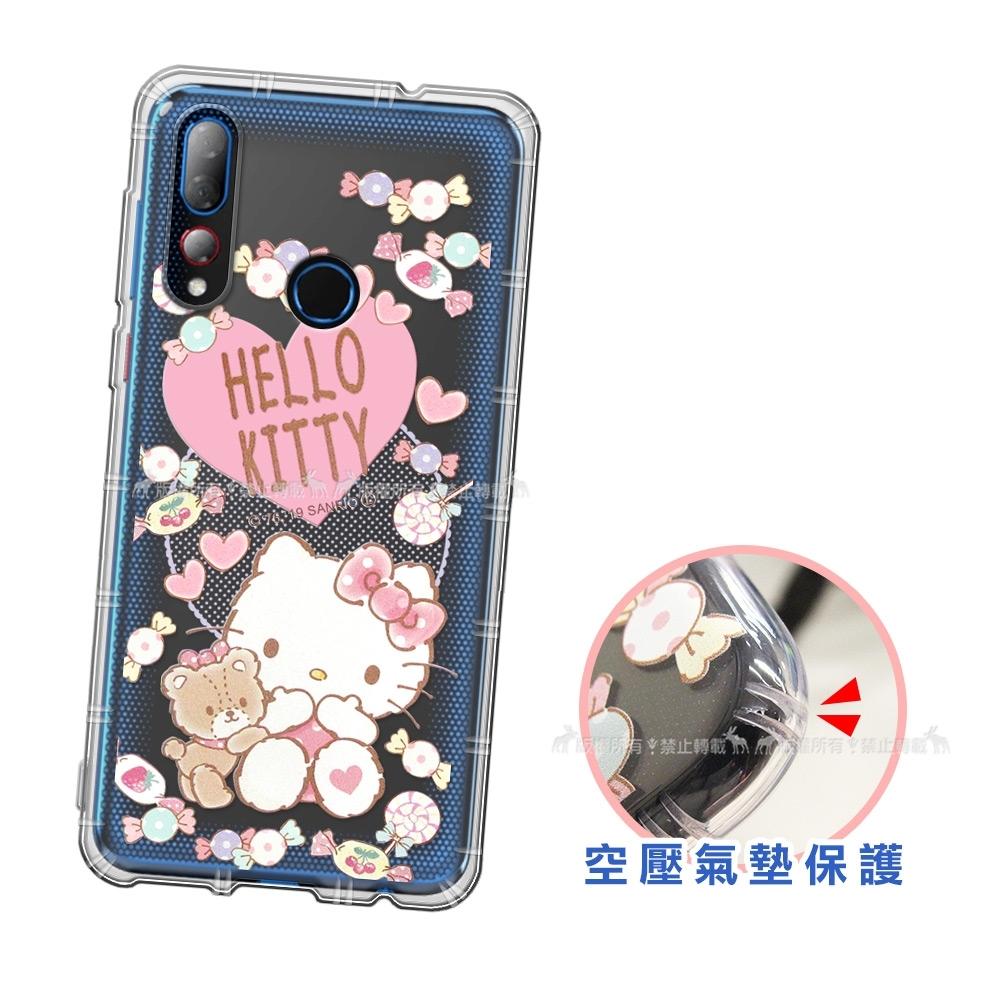 三麗鷗授權 HTC Desire 19+ 愛心空壓手機殼(吃手手)