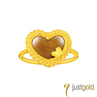 鎮金店Just Gold 編愛Lingering Love純金系列 黃金戒指