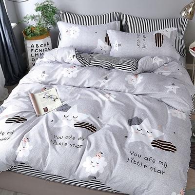 Goelia 幸福空間 親膚舒柔活性印染超細纖單人床包枕套兩件組