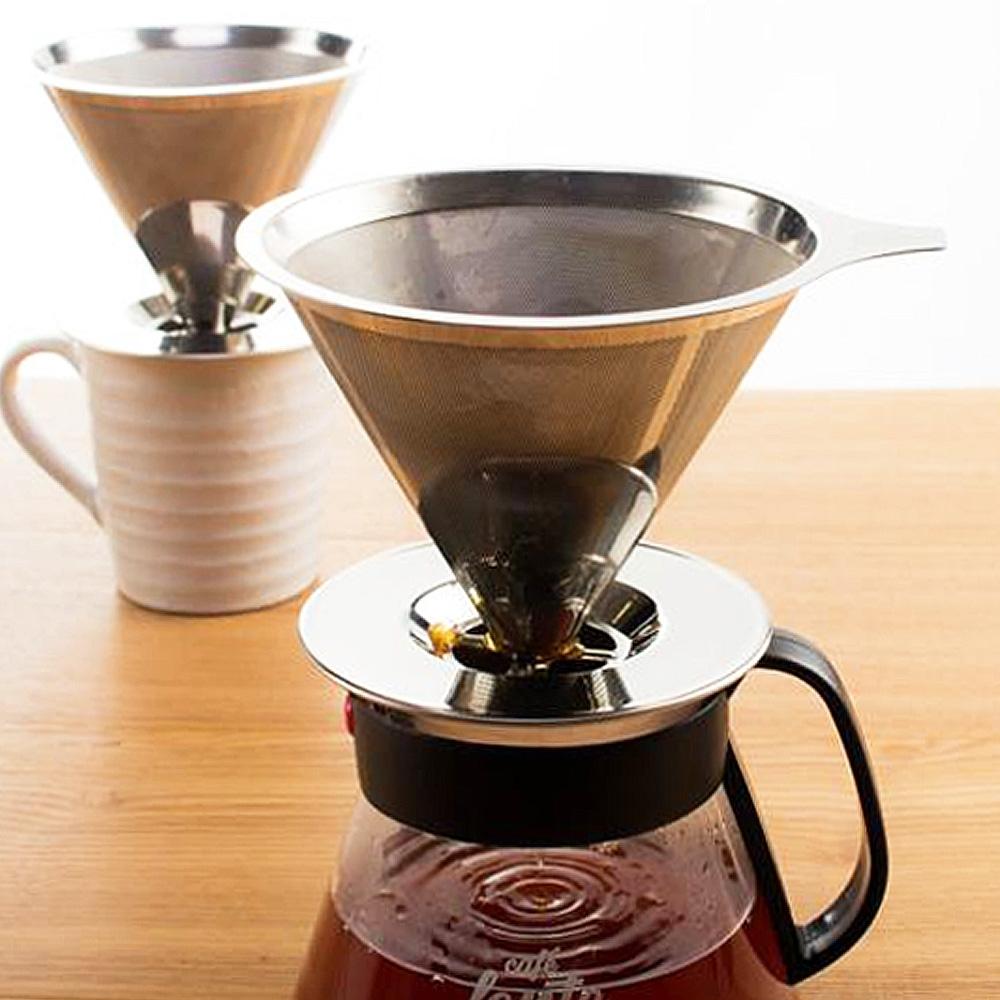UdiLife 慢拾光/手沖式不鏽鋼咖啡濾杯/2-4人 (商品不含咖啡壺)