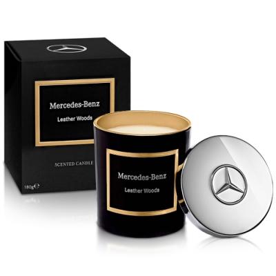Mercedes Benz 賓士 木質與皮革頂級居家香氛工藝蠟燭180g