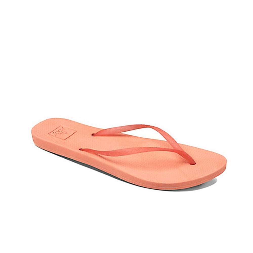 REEF 拖鞋 人體工學 超Q彈橡膠 橡膠夾腳拖 人字拖  橘 女款RF0A2YFKSMN