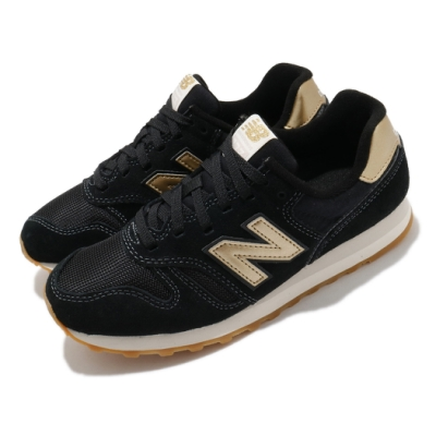 New Balance 休閒鞋 373 低筒 運動 女鞋 紐巴倫 基本款 簡約 麂皮 球鞋 穿搭 黑 金 WL373FB2B