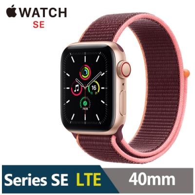 Apple Watch SE 40mm 鋁金屬錶殼配運動型錶環(GPS+Cellular版)