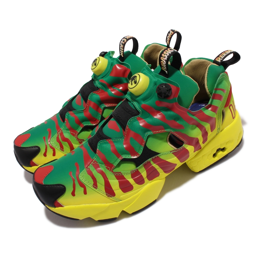 Reebok 休閒鞋 Instapump Fury Og X 男鞋 Jurassic Park 侏儸紀公園 吉普車彩貼花紋 綠 紅 GW0212