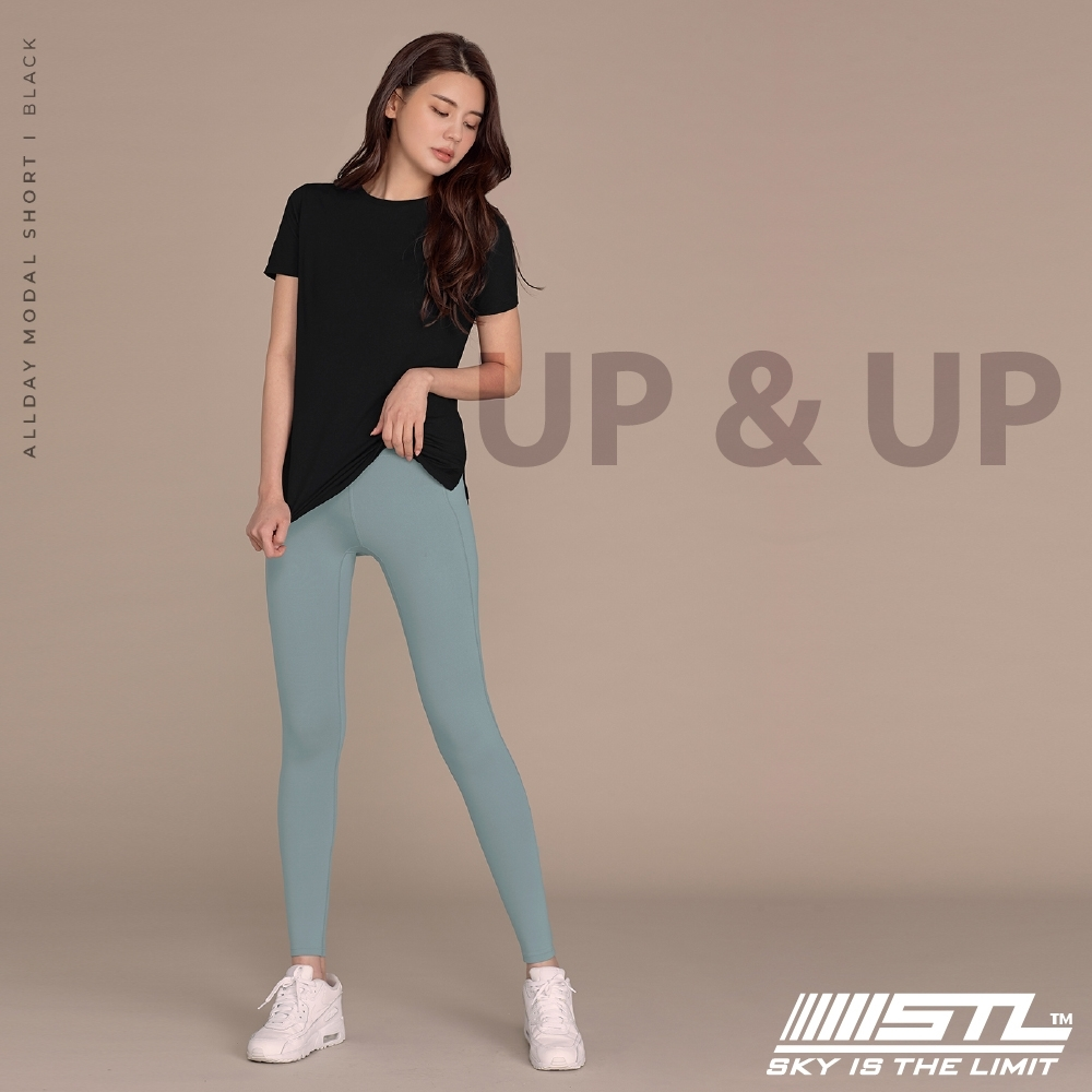 STL yoga legging UP&UP 9 韓國 運動機能 超高腰 拉提訓練 緊身長褲 瑜珈/重訓/路跑/登山 乾燥風鈴藍綠MistySky