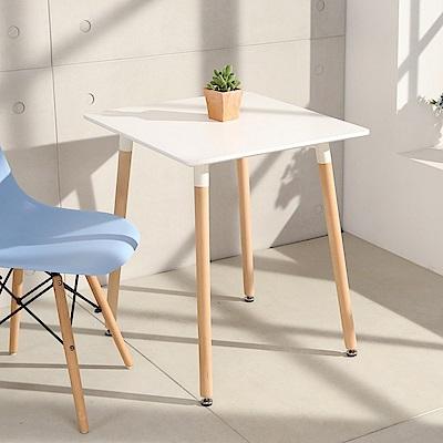 LOGIS邏爵- 自然簡約北歐寬60cm方形桌/ 方桌/ 工作桌/ 書桌/ 休閒桌
