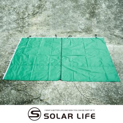 索樂生活 SOLAR彈開式炊事帳篷二代專用-塗銀布門.防水遮陽圍布帳篷遮雨棚防水銀膠邊布