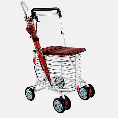 第二代 安心生活 日式EZGO休閒購物推車-紅格 BF-916P