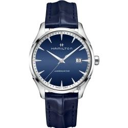 Hamilton 漢米爾頓 Jazzmaster 品味紳士經典石英手錶-藍/40mm