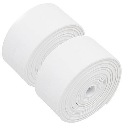 月陽 牆角隙縫防霉防撞PVC保護條貼條 2入(寬3.8 x長3.2 cm)