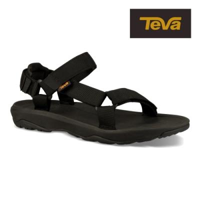 【TEVA】原廠貨 中童 Hurricane XLT2 機能運動涼鞋/雨鞋/水鞋/童鞋(黑-TV1019390CSBLK)