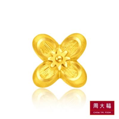 周大福 迪士尼公主系列 阿拉丁茉莉公主黃金耳環(單耳)