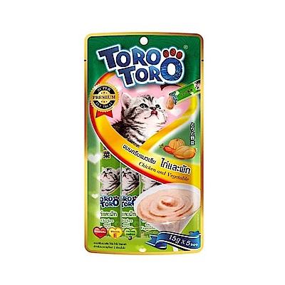 ToroToro寵愛肉泥包 雞肉+蔬菜15g5入-六包組
