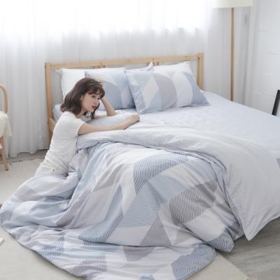 BUHO 100%TENCEL純天絲舖棉兩用被床包組-雙人特大(日光私居)