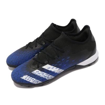 adidas 足球鞋 Predator Freak 3 L 男鞋 海外限定 愛迪達 草地球場 包覆 黑 藍 FY0616