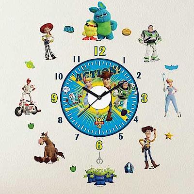 【itaste小品味】玩具總動員4系列時鐘壁貼