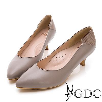 GDC-基本素面百搭上班小姐姐低跟包鞋-粉色