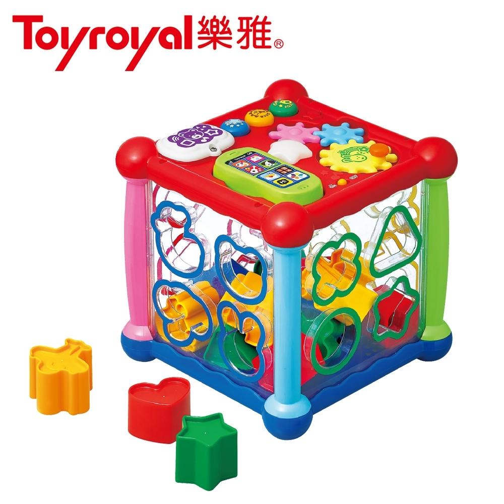 日本《樂雅 Toyroyal》透明聲光積木益智盒
