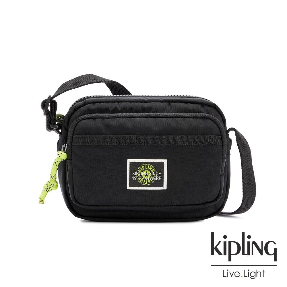 Kipling 率性芝麻抹茶綠雙層輕巧斜背包-SISKO
