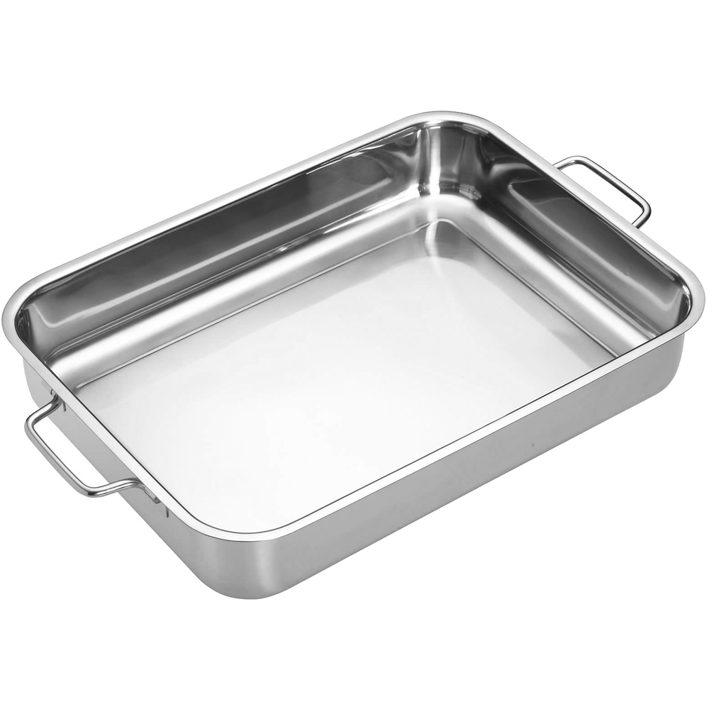 《Master》雙柄不鏽鋼長形深烤盤(37cm)