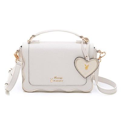 PLAYBOY- 手提包附長背帶 薔薇花語系列-白色