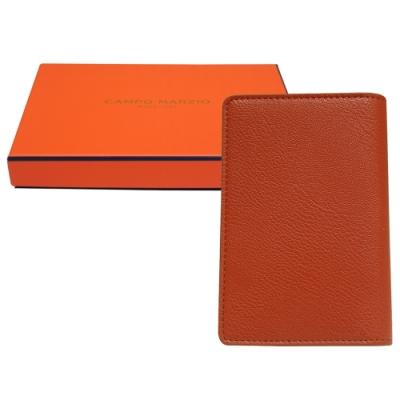 CAMPO MARZIO 掀開式皮革護照夾-橘色(附盒)