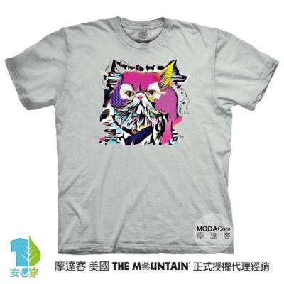 摩達客-美國進口The Mountain 流行藝術貓 純棉環保藝術中性短袖T恤